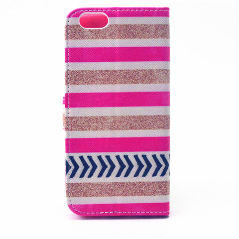 Stripe Pattern Leather Case for iPhone 6/6 Plus - CELLRIZON