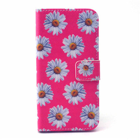 Chrysanthemum Stand synthetic Leather Case for iPhone 6 4.7''/6 Plus 5.5'' - CELLRIZON