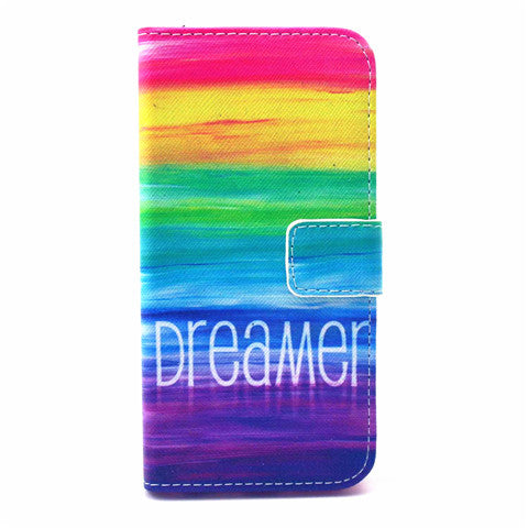 "Rainbow Painted Leather Case for iPhone 6 4.7""/6 Plus - CELLRIZON"