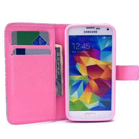 Stand Leather Case For Samsung S5 - CELLRIZON