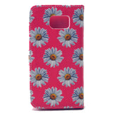 Chrysanthemum Stand synthetic Leather Case for Samsung S6 - CELLRIZON