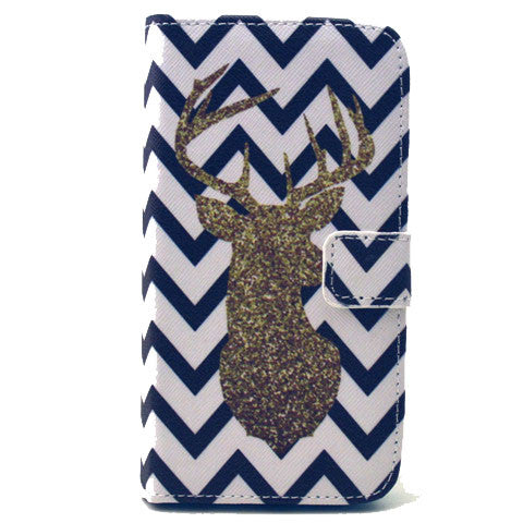 The waves deer Stand Leather Case For Samsung S6 - CELLRIZON