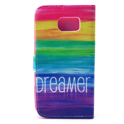 Colorful Dream Stand synthetic Leather Case for Samsung S6 - CELLRIZON