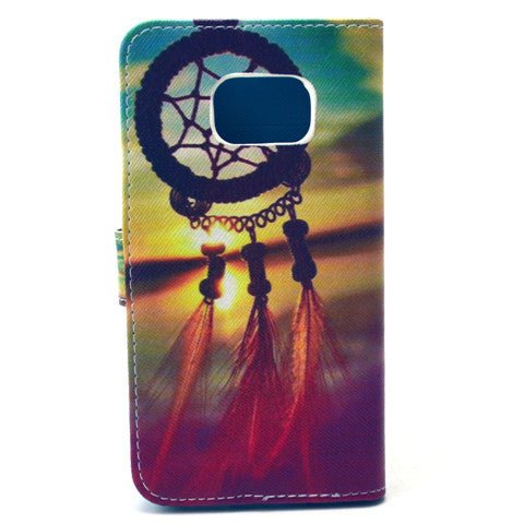 Dreamcatcher Stand imitation Leather Case For Samsung S6 Edge - CELLRIZON