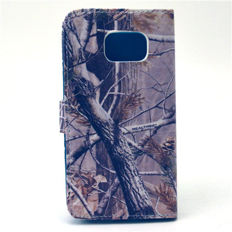 Tree Stand Leather Case For Samsung S6 Edge - CELLRIZON