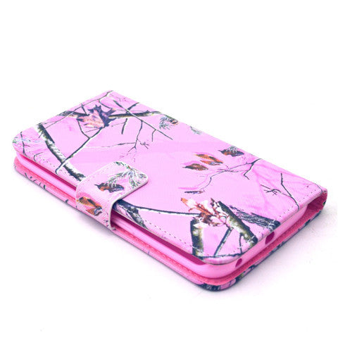 Pink Tree Stand Leather Case For Samsung S6 Edge - CELLRIZON