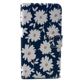 Black Flower Stand Faux Leather Case for Samsung S6 Edge - CELLRIZON