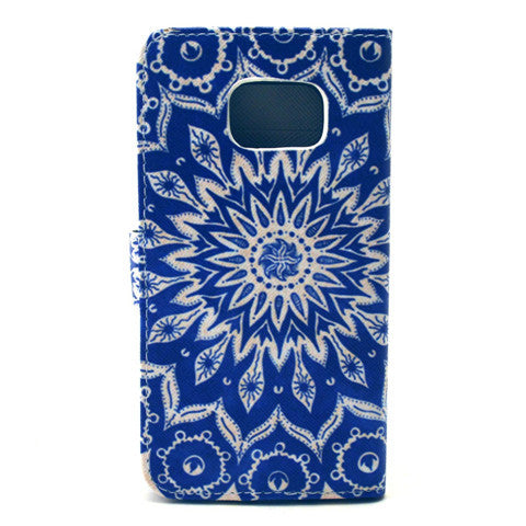 Sunflower Stand Leather Case For Samsung S6 Edge - CELLRIZON