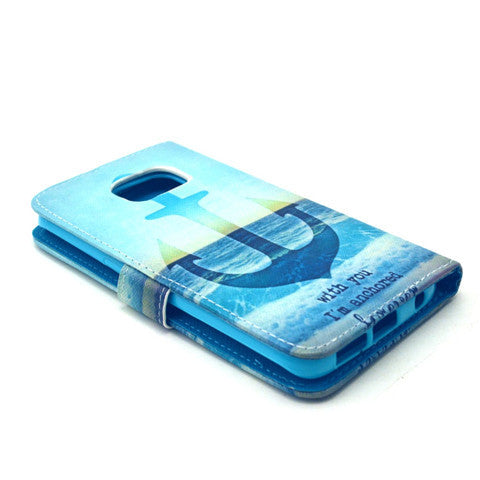 The Anchor Of The Sea Stand Leather Case For Samsung S6 Edge - CELLRIZON