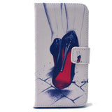 High heels Stand Leather Case For Samsung S6 - CELLRIZON
