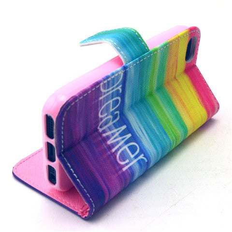 Colorful Dream Stand synthetic Leather Case for iPhone 5S - CELLRIZON