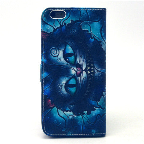 Blue Cat Faux Leather Case for iPhone 6 Plus - CELLRIZON