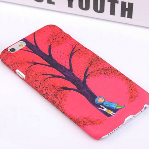Red tree doll Luminous shell Case Cover For Iphone 6 4.7inch - CELLRIZON