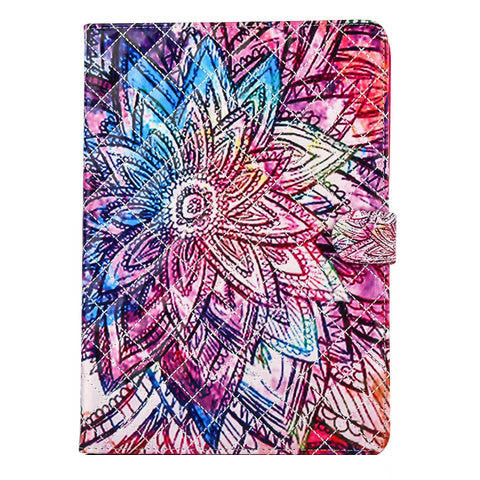 Colorful flower PU Wallet Case for IPAD 5