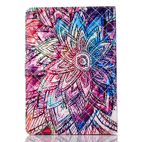 Colorful flower PU Wallet Case for IPAD 5 - CELLRIZON
