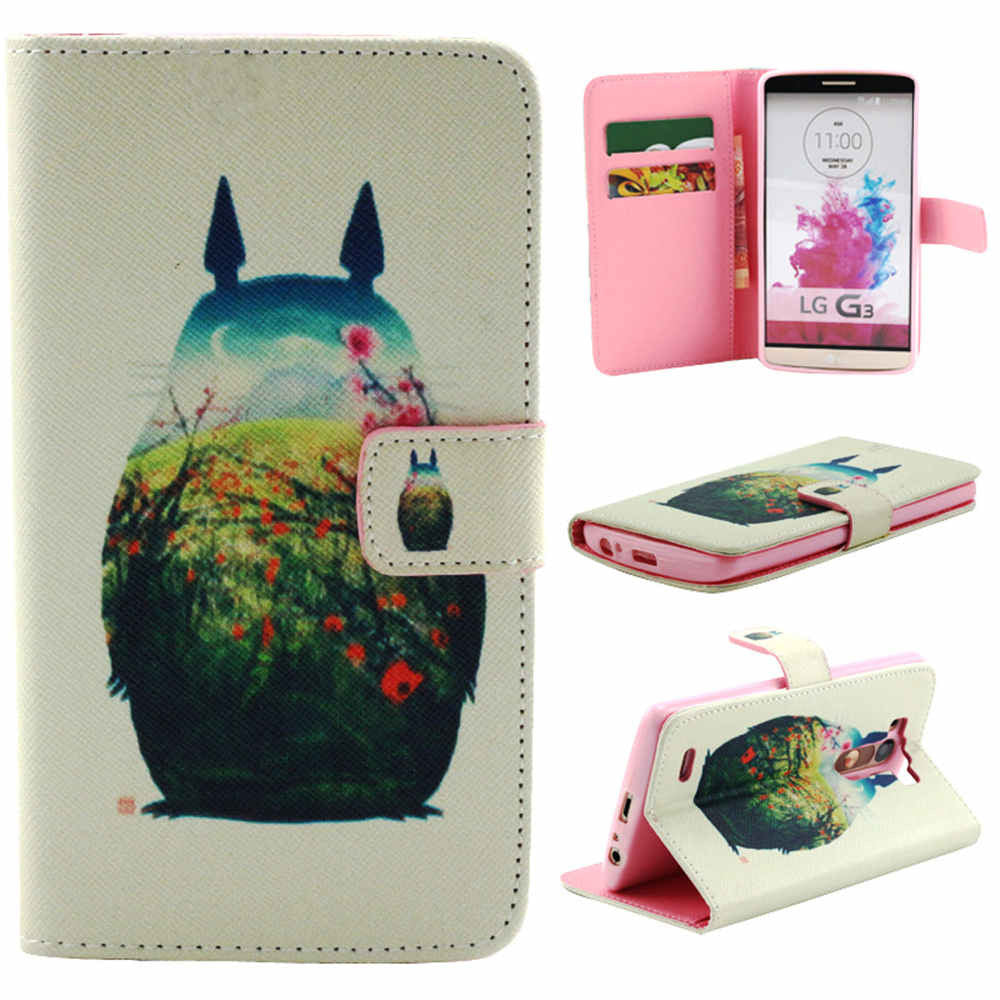 Cartoon synthetic Leather Stand Case for LG G3 - CELLRIZON