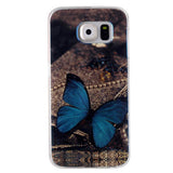Blue Butterfly Blu-ray Phone Back Case for Samsung Galaxy S6/S6 Edge - CELLRIZON