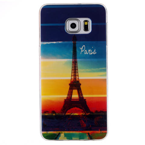 Rainbow Paris Tower Blu-ray Phone Back Case For Samsung S6 Edge/S6 Edge Plus - CELLRIZON
