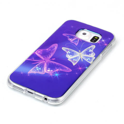 Butterfly Blu-ray Phone Back Case for Samsung Galaxy S6/S6 Edge - CELLRIZON