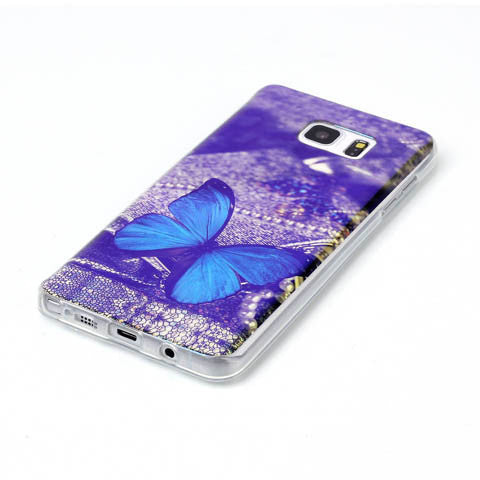 Blue Butterfly Blu-ray Phone Back Case for Samsung Galaxy Note 5 - CELLRIZON