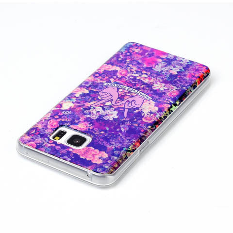 Floral Blu-ray Phone Back Case For Samsung Galaxy Note 5 - CELLRIZON