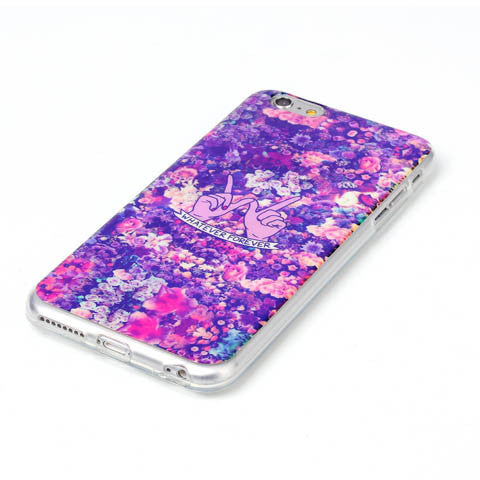 Floral Blu-ray Phone Back Case For iPhone 6 Plues 5.5 inch - CELLRIZON