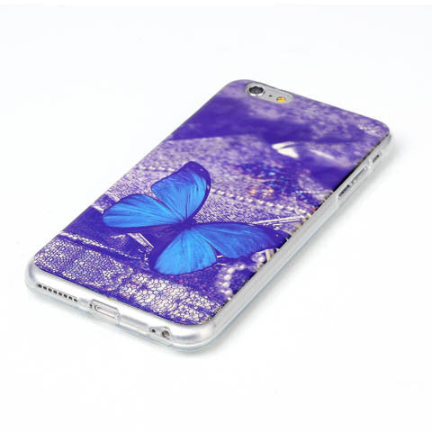 Blue Butterfly Blu-ray Phone Back Case for iPhone 6 - CELLRIZON