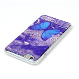 Blue Butterfly Blu-ray Phone Back Case for iPhone 6 Plus - CELLRIZON