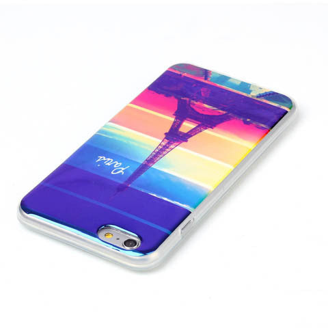 Rainbow Paris Tower Blu-ray Phone Back Case For iPhone 6 Plus 5.5 inch - CELLRIZON
