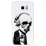 Samsung Galaxy note 5 Headphones Skull case - CELLRIZON