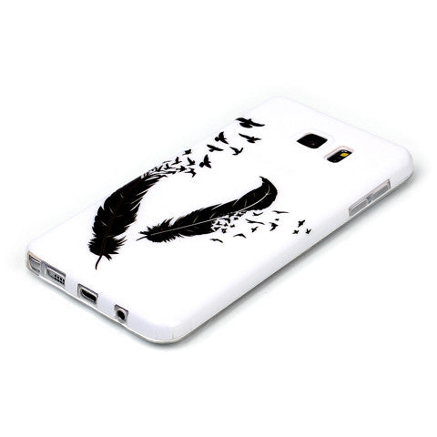 Samsung Galaxy note 5 Black Feather case - CELLRIZON