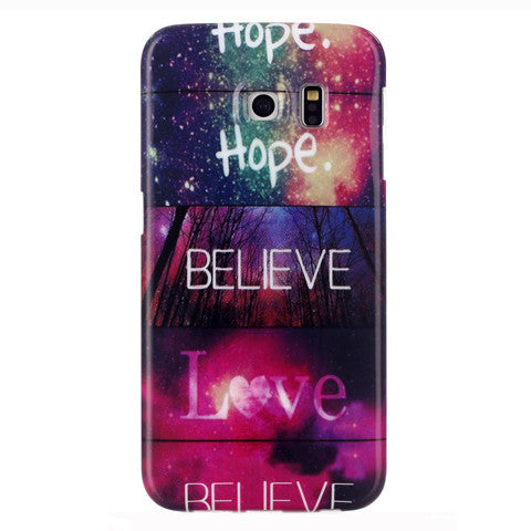 Samsung Galaxy S6 Edge Believe Love case - CELLRIZON