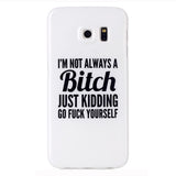 Samsung Galaxy S6 Edge Bitch Letter Case - CELLRIZON