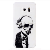 Samsung Galaxy S6 Edge Headphones Skull case - CELLRIZON