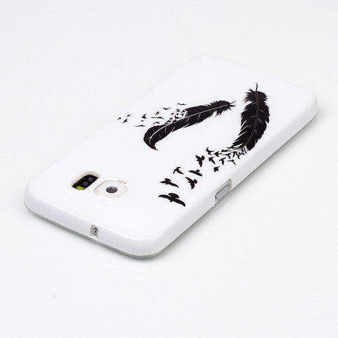 Samsung Galaxy S6 Black feathers case - CELLRIZON