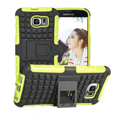 Shock Proof Hybrid Stand Case for Samsung S6 Back Cover - CELLRIZON  - 3
