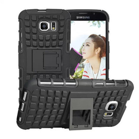 Shock Proof Hybrid Stand Case for Samsung S6 Back Cover - CELLRIZON  - 4