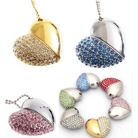 Diamond Heart USB Flash Drive 16/32/64gb - CELLRIZON