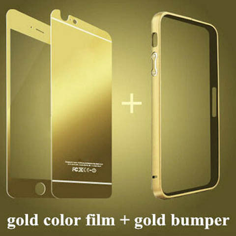 Tempered Glass Mirror Case with Aluminum Frame For Iphone 5/5s/SE - CELLRIZON