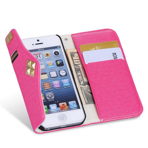 iPhone 5 5S case  Flip Design With Card Holders - CELLRIZON