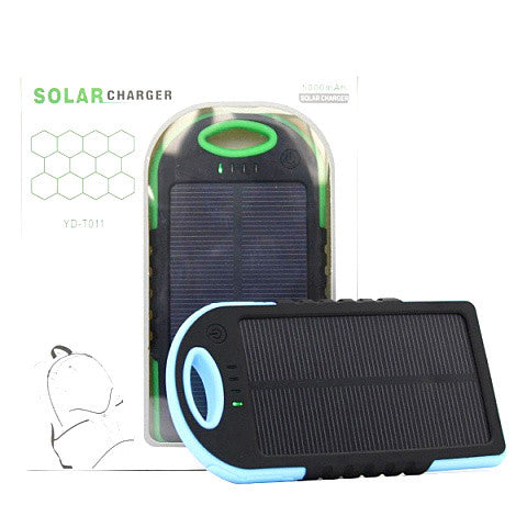 5000mah Solar Charger Power Bank - CELLRIZON