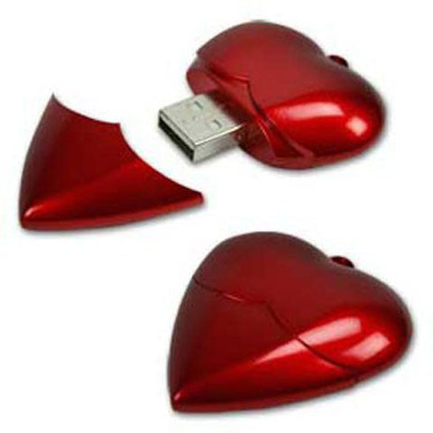 Plastic Heart USB Flash Pen Drive 16gb - CELLRIZON
