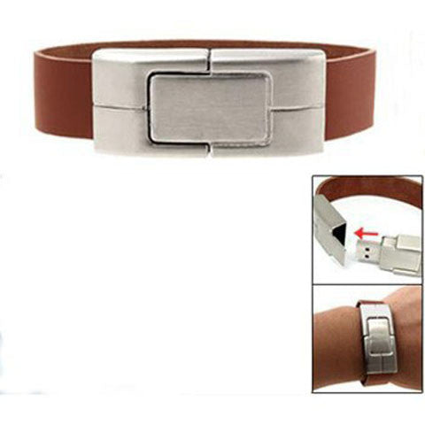 Leather Bracelet USB Flash Drive 2/4/8/16/32/64gb - CELLRIZON  - 6