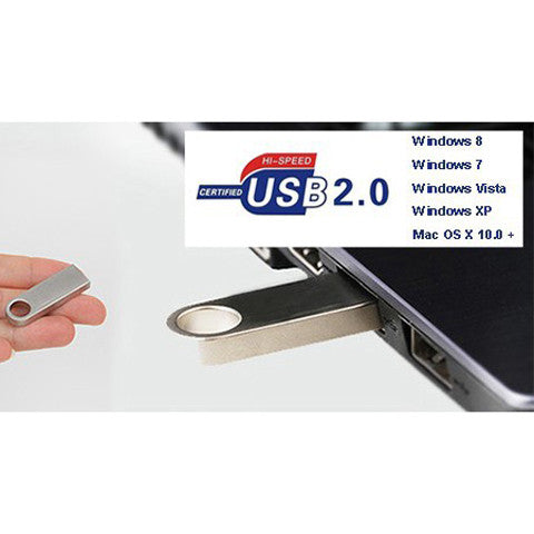 Metal USB 2.0 Flash Drives with key Ring 2/4/8/16/32/64gb - CELLRIZON  - 4