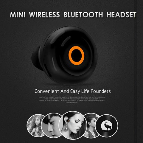 Stealth V6 Bluetooth 4.1 Wireless Headset Mini Stereo - CELLRIZON  - 3