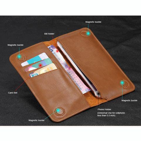Pocket Wallet Real Leather Case For iphone 7