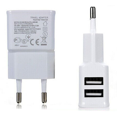 2A Dual 2 Ports USB EU Wall Charger Adapter - CELLRIZON
