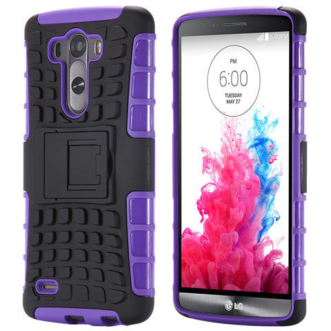 Hybrid Stand Armor Case for LG G3 - CELLRIZON