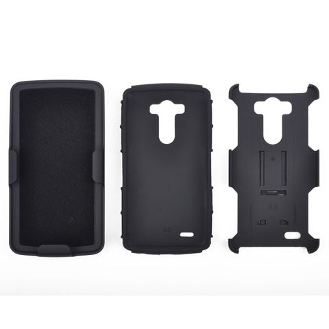 Armor Back Cover with Belt Clip for LG G4 - CELLRIZON