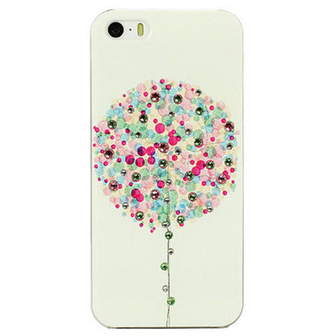 Cartoon Balloon Bling Case for iPhone 5 Back Cover - CELLRIZON